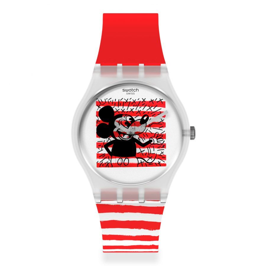 Reloj Swatch Mickey Mouse Mariniére by Keith Haring GZ352
