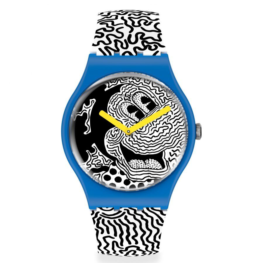 Reloj Swatch Mickey Mouse Eclectic Mouse by Keith Haring SUOZ336